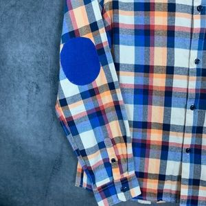 Andy & Evan Shirts & Tops - 🆕Andy & Evan Boy's Plaid Elbow Patch Shirt 13/14